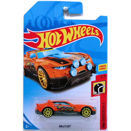 Mattel Masinuta Rally Cat Hot Wheels, Colectia HW Daredevils