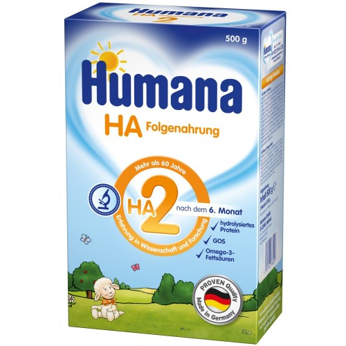 Humana Lapte Praf Humana HA 2, 6 luni+, 500 g