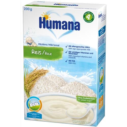 Humana Cereale Humana cu Fulgi de Orez 4 luni+, 200 g
