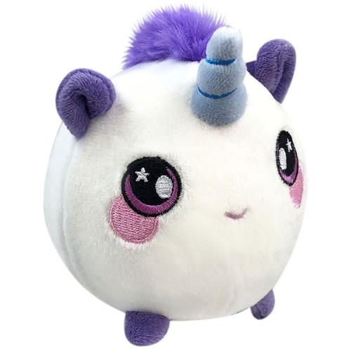 Jucarie Squishy Pufoasa din Plus cu Revenire Lenta Unicornul Uma 9 cm
