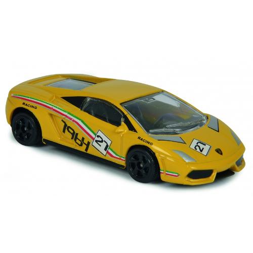Masinuta de Curse Lamborghini Gallardo Galben, Scara 1:64