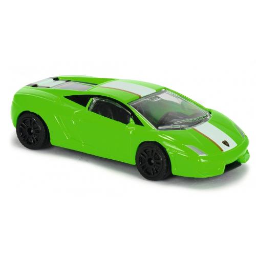 Masinuta de Curse Lamborghini Gallardo Verde, Scara 1:64
