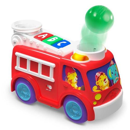 Masina de Pompieri cu Lumini si Sunete Hab Roll & Pop