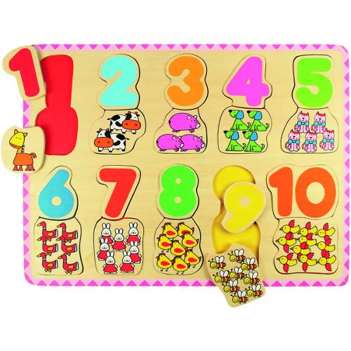 BigJigs Toys Puzzle Numere si Culori