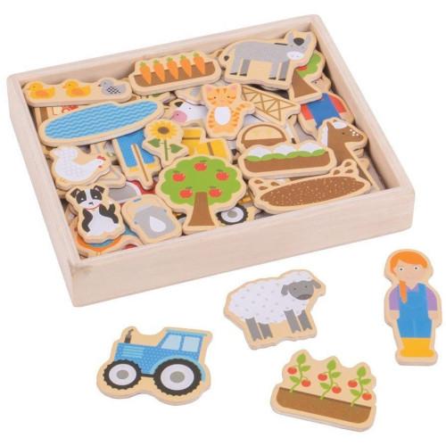 BigJigs Toys Set Magnetic Ferma