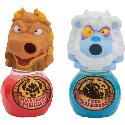 Set 2 Figurine Gloopers Yeti Sudor si Minotauri Mucus cu Slime