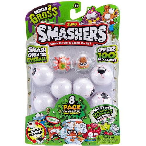 Set 8 Figurine Gross Splat Spider si Baby Poo in Mingiute Smashers Ochi