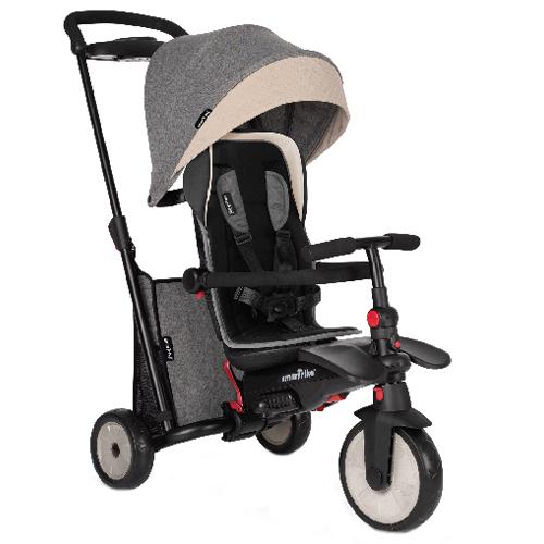 Tricicleta Pliabila 7 in 1 cu Certificare de Carucior si Tehnologie Touch Steering STR5 Gri