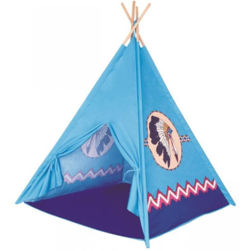 Cort Teepee cu Imprimeu Indian 150 x 120 x 120 cm imagine