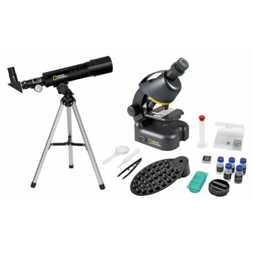 Set Telescop Ultra Compact si Microscop cu Adaptor pentru Telefon