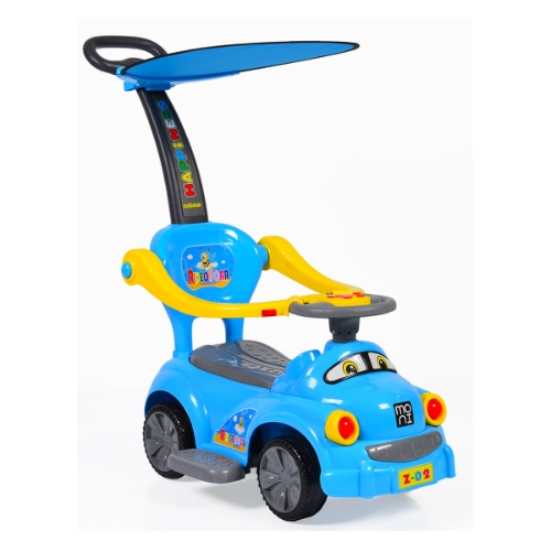 Masinuta Ride On cu Parasolar si Sunete GO Albastru