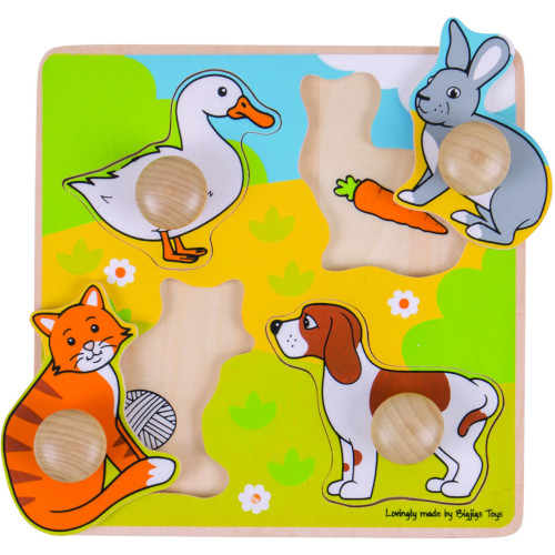 BigJigs Toys Primul Meu Puzzle – Animale de Companie