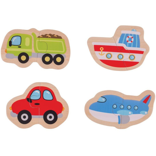 BigJigs Toys Puzzle Mijloace de Transport