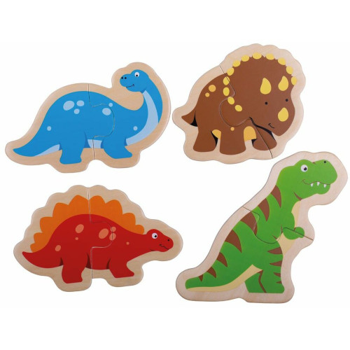 BigJigs Toys Puzzle din Lemn – Dinozauri