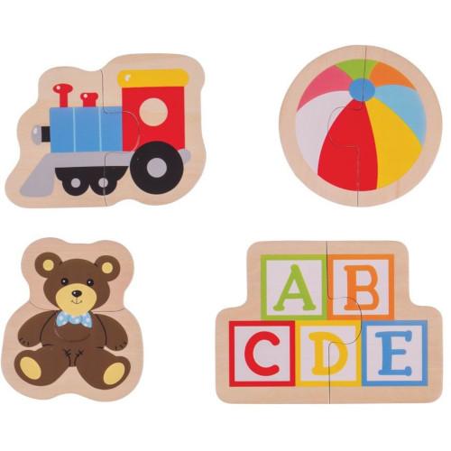 BigJigs Toys Puzzle din Lemn – Jucarii