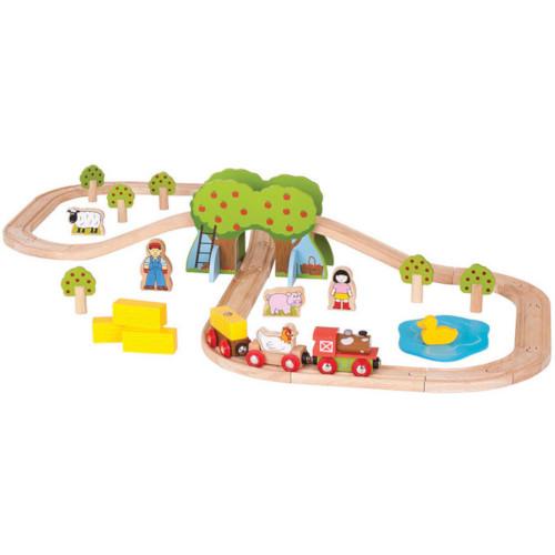 BigJigs Toys Trenuletul de la Ferma