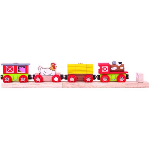 BigJigs Toys Trenuletul Fermei Vesele