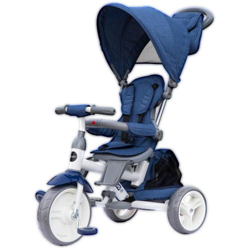 Tricicleta cu Sezut Reversibil Evo Albastru, Colectia 2019
