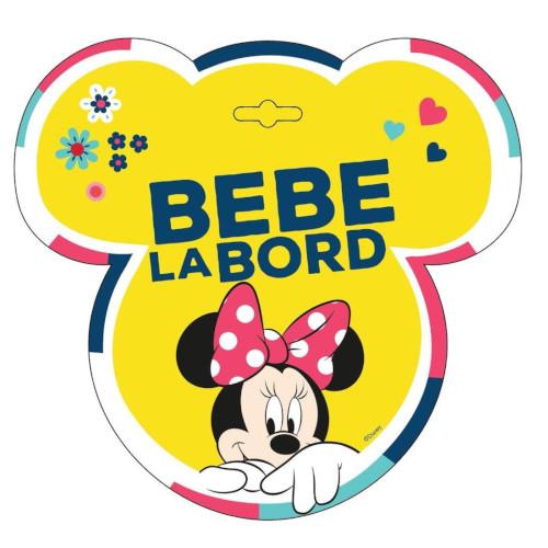 Semn Auto Bebe la Bord Minnie Mouse