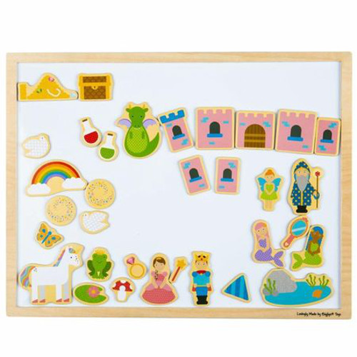 BigJigs Toys Tabla Magnetica cu Rama din Lemn