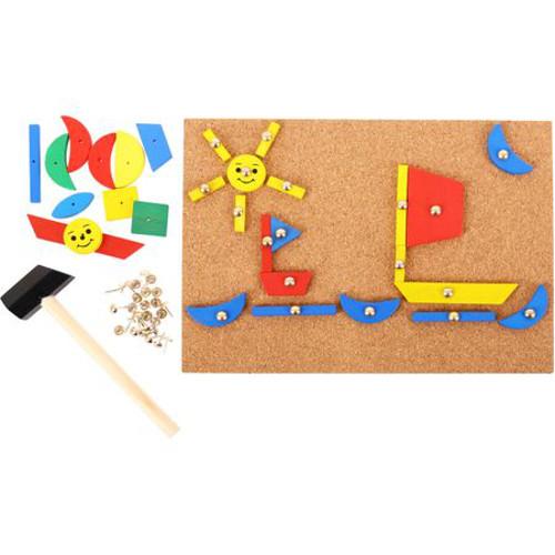 BigJigs Toys Set de Creatie – Forme din Lemn