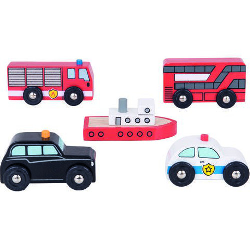 Set 5 Vehicule din Lemn thumbnail