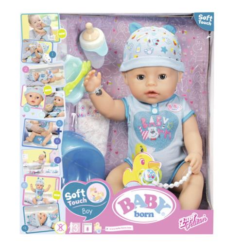 Zapf Baby Born Bebelus Baiat Interactiv cu Corp Moale