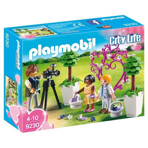 Set de Constructie Copii cu Flori si Fotograf - City Life