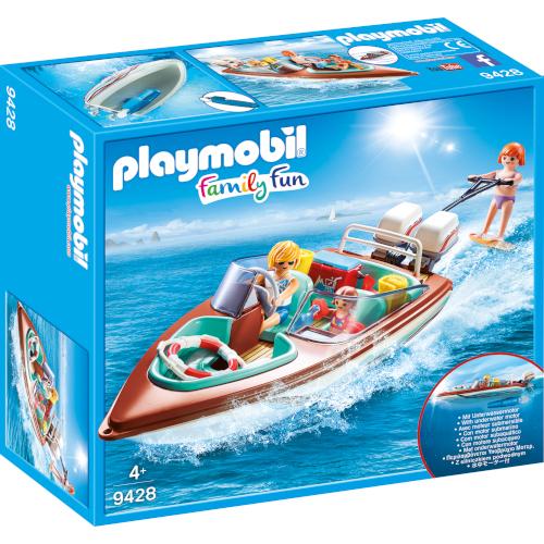 Playmobil Set de Constructie Barca de Viteza cu Motor – Family Fun