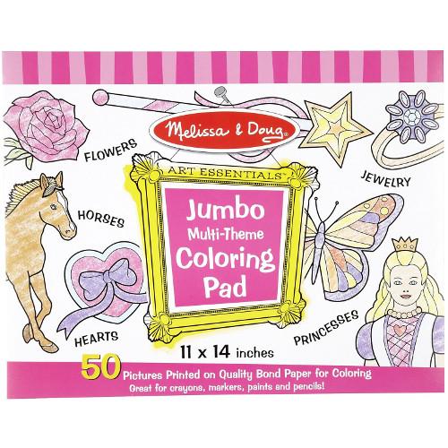 Caiet Jumbo cu Desene pentru Colorat Roz imagine