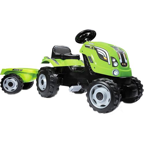 Tractor cu Pedale si Remorca Farmer XL Verde thumbnail