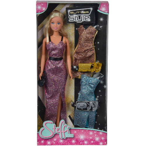 Papusa Steffi Love 29 cm Glitter Style cu 3 Rochii thumbnail