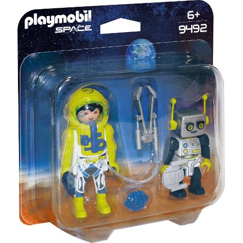 Set  2 Figurine Astronaut si Robot
