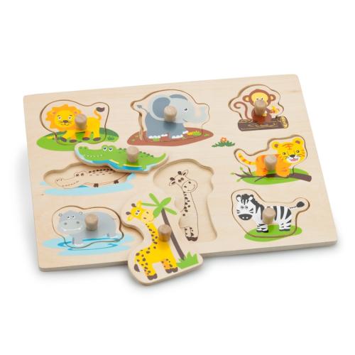Puzzle Lemn Animale din Safari