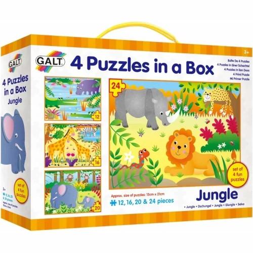 Galt Set 4 Puzzle-uri Jungla