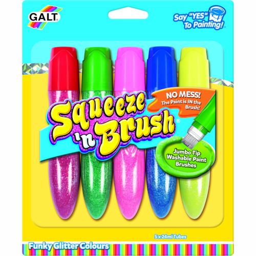 Galt Set de 5 Culori cu Sclipici Squeeze'n Brush