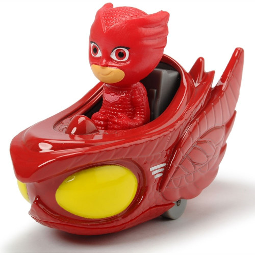 Masina Eroi in Pijamale Owl-Glider cu Figurina