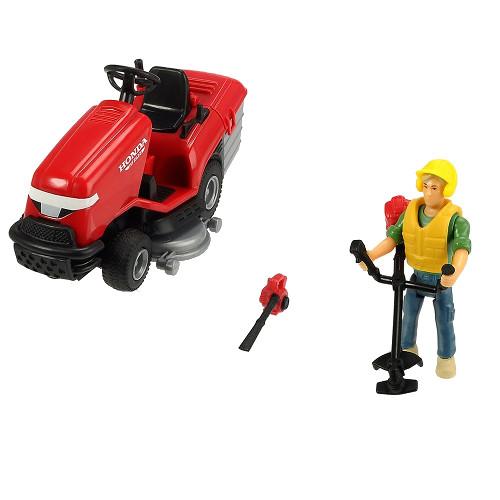 Dickie Toys Masina de Tuns Iarba Playlife Lawn Mower Set cu Figurina si Accesorii