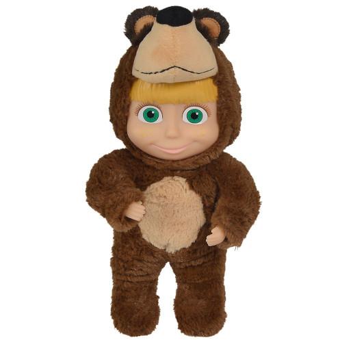 Simba Papusa Masha 2 in 1 in Costum de Urs 25 cm