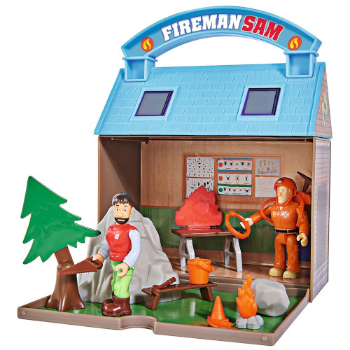 Jucarie Statie Montana cu 2 Figurine si  Accesorii Mountain Acivity Center Fireman Sam Bergstation