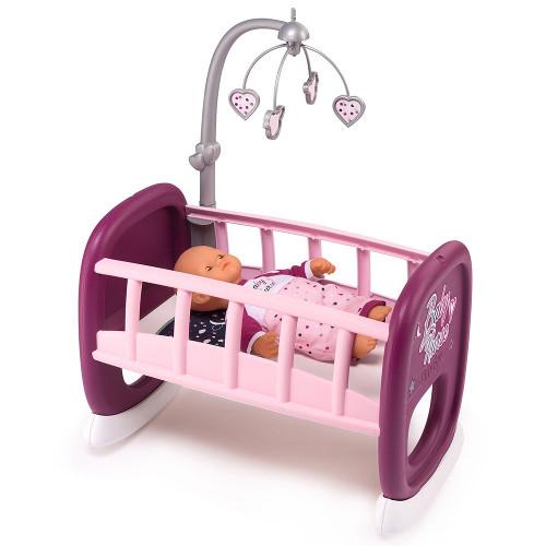 Leagan pentru papusa Baby Nurse Mov cu Carusel