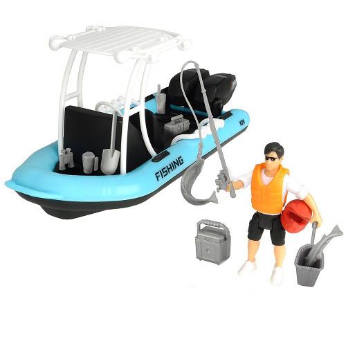 Barca de Pescuit Playlife cu Figurina si Accesorii