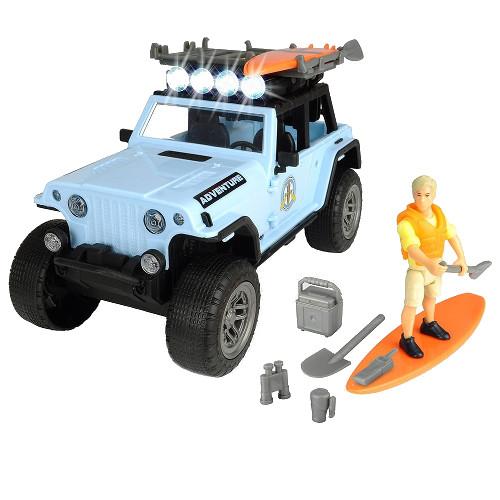 Masina Playlife Surfer Set cu Figurina si Accesorii