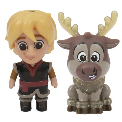 Set 2 Mini Figurine Kristoff si Sven Whisper and Glow Frozen 2