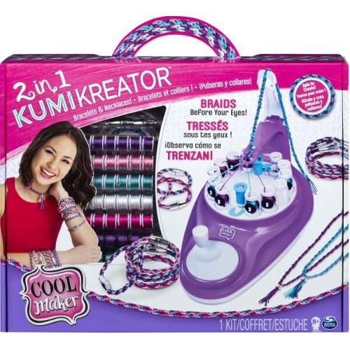 Set Creatie Bratari si Coliere ale Prieteniei Cool Maker Kumi Kreator 2 in 1