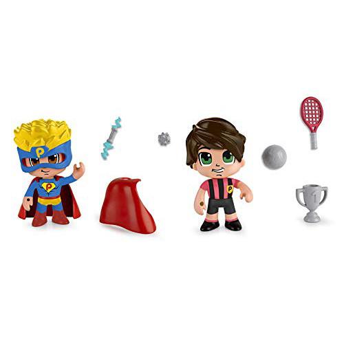 Set 2 Figurine PinyPon Supererou si Sportiv