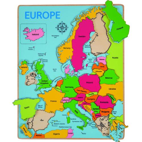 BigJigs Toys Puzzle Incastru Harta Europei