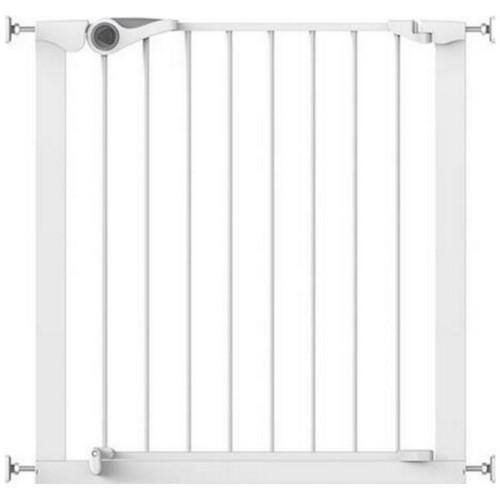 Poarta de Siguranta Metal Alb Easy Fit cu Montare prin Presiune, 75-82 cm imagine