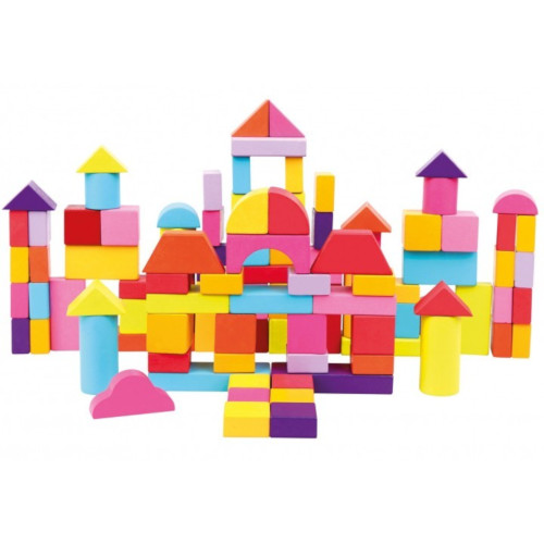 Set Constructii Forme Geometrice 100 Piese