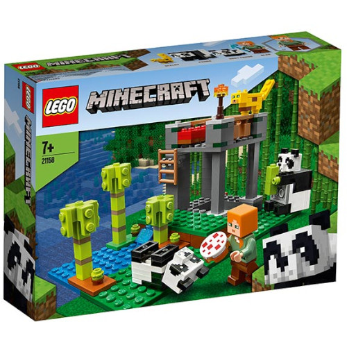 LEGO Minecraft Cresa Ursilor Panda 21158